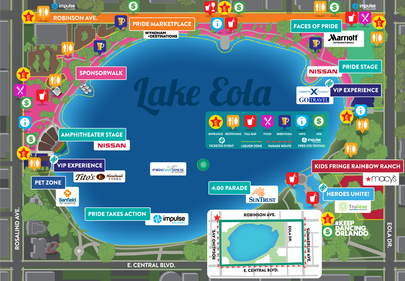 2019 Come Out With Pride Festival Map